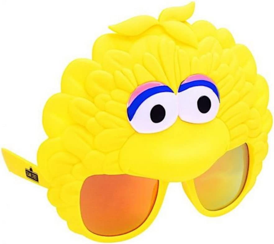 Costume Sunglasses Sesame Street Big Bird Sun-Staches Party Favors UV400