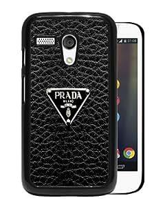 Prada-Logo Black Personalized Recommended Custom Motorola Moto G Phone Case