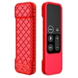 Bear Motion Case for Apple TV 4K / 4th Gen Remote Controller – Silicone Shock Resistant Cover for Apple TV 4K Siri Remote Controller (Case for Apple TV 4K / 4th Gen Remote, Red)