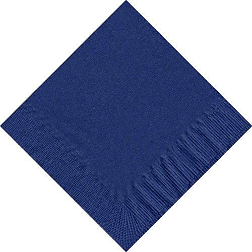 50 Plain Solid Colors Luncheon Dinner Napkins Paper - Navy
