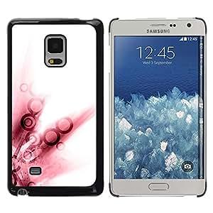 Arte rojo de la acuarela Anillo abstracto blanco- Metal de aluminio y de plástico duro Caja del teléfono - Negro - Samsung Galaxy Mega 5.8