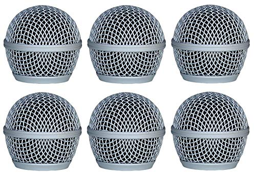 - Audio2000'S ACC1001X6 6-Pack Dent Resistant Steel Grille-Mesh Microphone Windscreens