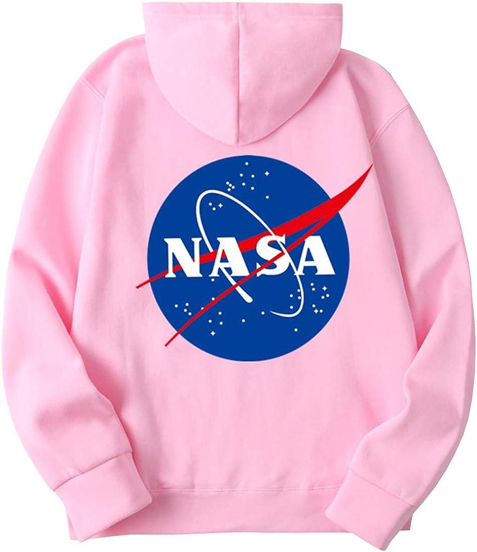 EMILYLE Donna Felpe con Cappuccio Colori Multipli Color Caramella NASA Stampato Galaxy Planet Manica Lunga Hoodie