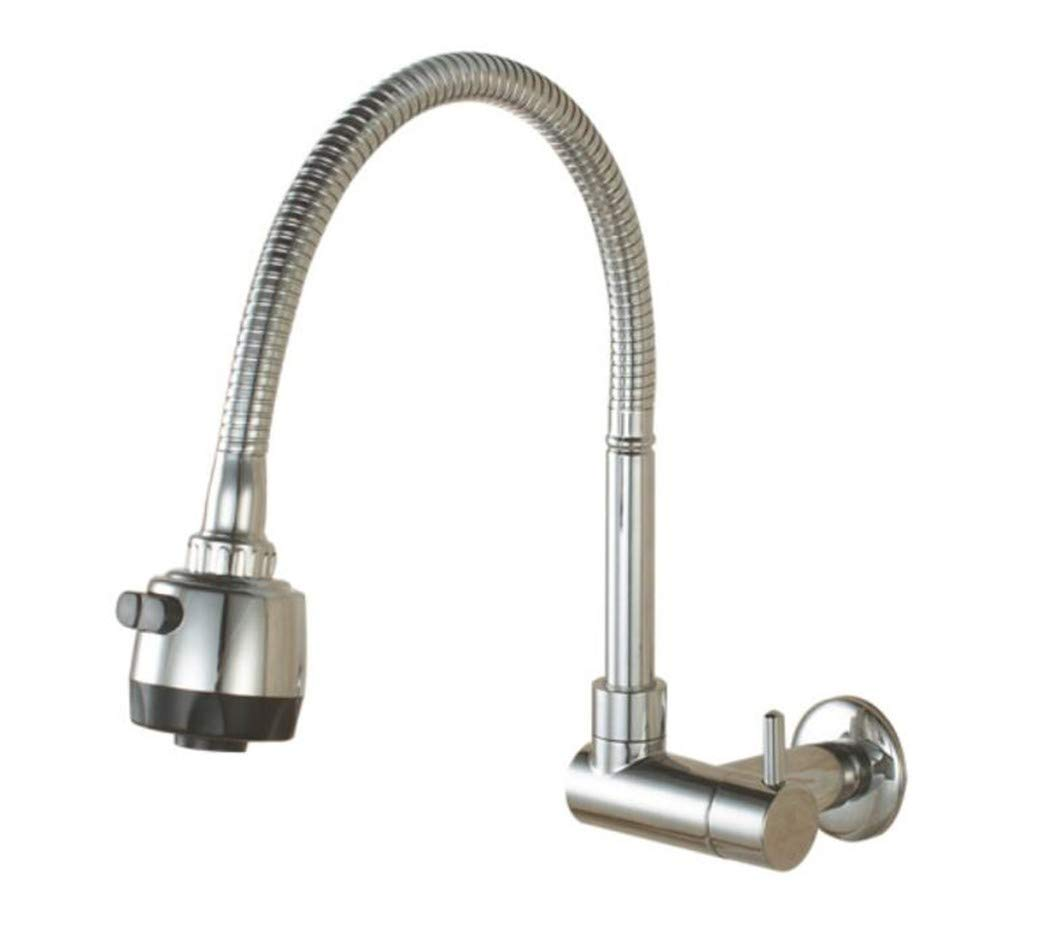 Taps Mixer Swivel Faucet Sink Wall-Entry Kitchen Single-Cold Tap Vegetable Basin Sink Mop Pool Tap Mop Pool Nozzle Universal redation