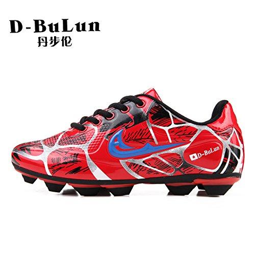 XING Lin Fußball Schuhe Fußball Schuhe Jugend Training Schuhe rutschsicherer Fußball Schuhe Damen und Herren Spike Kunstrasen Kinder Schuhe rot
