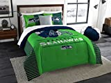 Seattle Seahawks Comforter Set Bedding Shams NFL 3 Piece King Size 1 Comforter 2 Shams Football Officially Licensed Linen Bedroom Decor Imported For True Fans Sold by MBG.4u