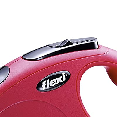 Flexi CL10C5.250.R New Classic Cord Retractable Leash, Red, Small/16' by Flexi North America