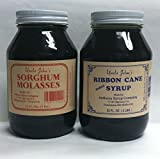 Natural Mississippi Syrup Qt. Sampler Ribbon Cane and Sorghum Syrup