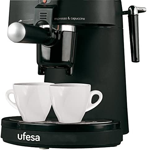 Ufesa CE7115 - Cafetera espresso (Capricciosa, 800W, 0,4L, 2,5Bar, 2, 4 tazas), color negro: Amazon.es: Hogar