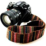 Wannabuy Camera Soft Bohemia Shoulder Neck Universal Camcorder Belt Strap Vintage Antislip Belt for All DSLR Camera Canon Nikon Sony Pentax Fujifilm Colorful