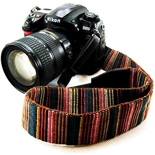 Wannabuy Camera Soft Bohemia Shoulder Neck Universal Camcorder Belt Strap Vintage Antislip Belt for All DSLR Camera Canon Nikon Sony Pentax Fujifilm - Scarf Belt Patterned