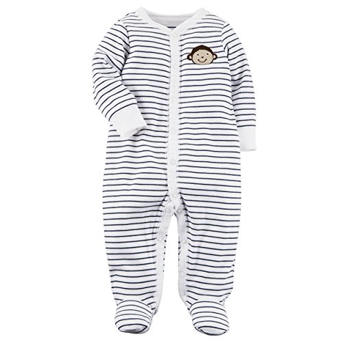 Carter's Baby Boys' Monkey Button Up Cotton Sleep & Play 3 Months