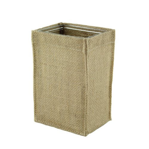 (Syndicate Sales Rectangle Burlap Container Container with Glass, 4-1/4 x 6