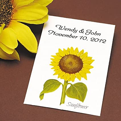 Amazon.com: Sunflower Seed Wedding Favors, Personalized, Qty 25 ...