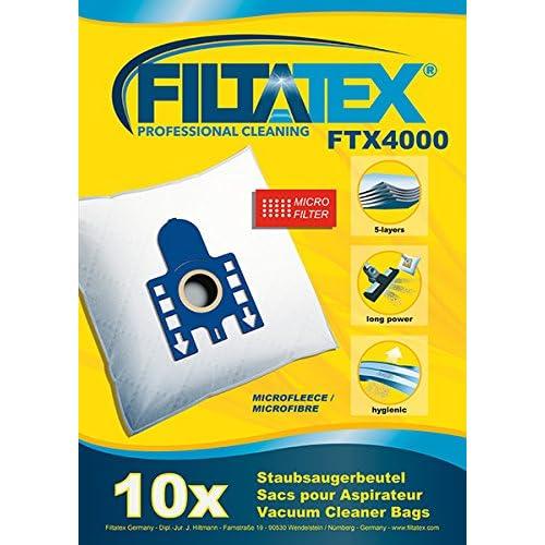 10 x FILTATEX (P) sacs aspirateur Miele SGSG1 complete c3 boost ecoline 800w / miele complete c3 boost parquet ecoline - sgsg1 800w