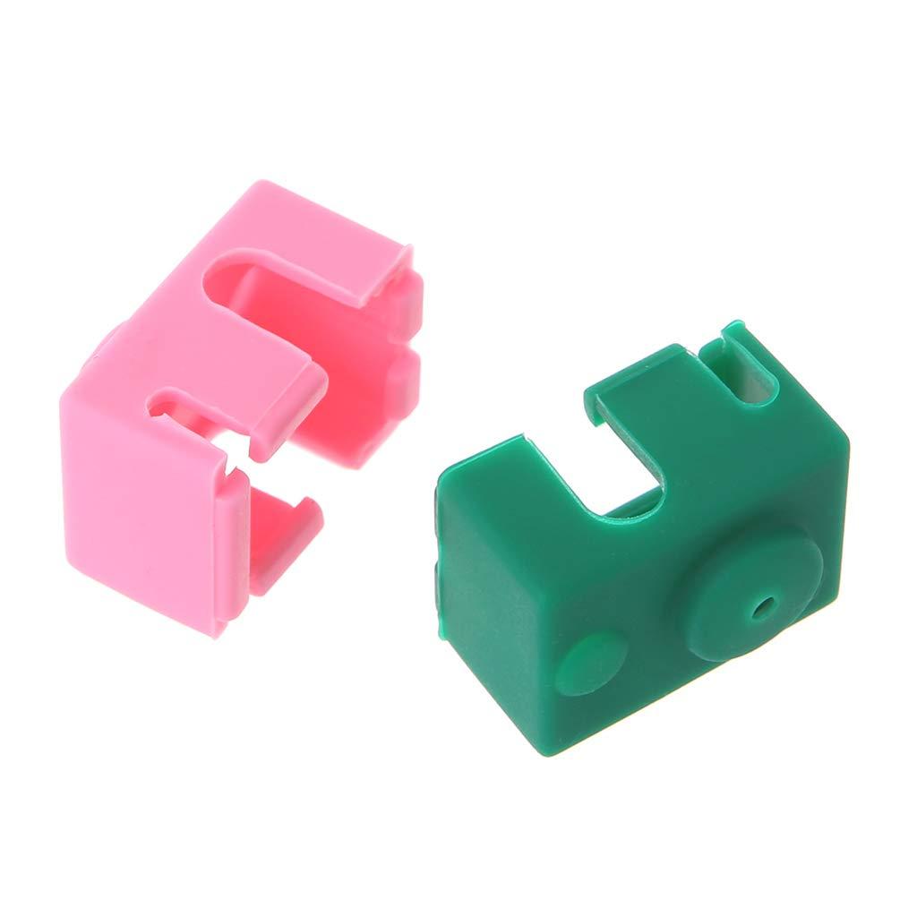 JUNESUN Couvercle de Bloc Chauffant en Silicone pour imprimante 3D E3D-V6 Extrudeuse chauff/ée en J