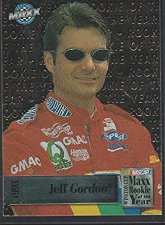 1993 Maxx Jeff Gordon Nascar Rookie Of The Year Racing Card