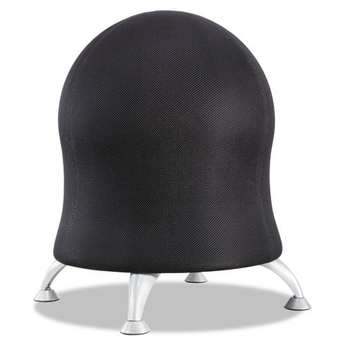 Safco 4750BL Zenergy Ball Chair 22 1/2'' Diameter x 23'' High Black/Silver by Safco