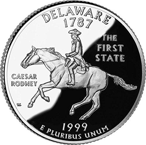 1999 P Deleware State Quarter Bankroll Uncirculated