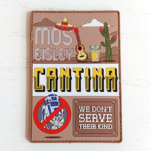 Mos Eisley Cantina Star Wars PVC Morale Patch, Hook Backed Morale Patch by NEO Tactical (Infrared Unit Patch)