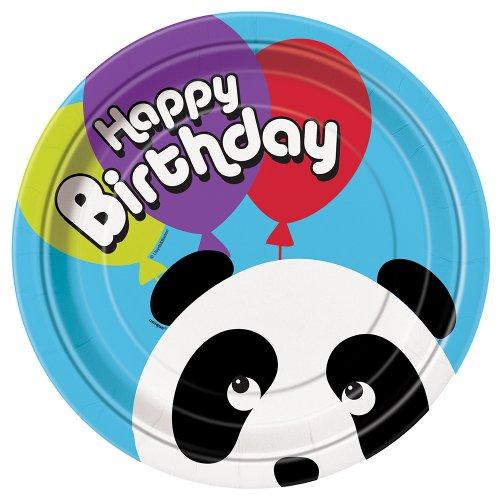 Panda Birthday Dinner Plates 8ct