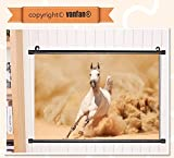vanfan Wall Scroll Poster- Animal Decor Collection Arabian Horse Breed R Wall Art Waves Paiting on Canvas, Pictures Wall Hanging Canvas Scroll Paintings For Living Room(47''x24'')