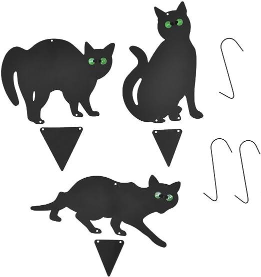 Festnight 3 pcs Juego de Cámara para effrayer los Gatos Acero Negro: Amazon.es: Hogar