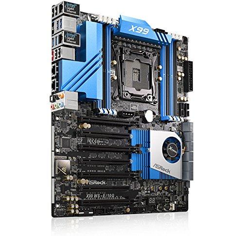 ASRock X99 WS-E/10G - Placa base (DDR4-SDRAM, DIMM, Quad, Intel, Core i7, Xeon, LGA 2011-v3): Amazon.es: Informática