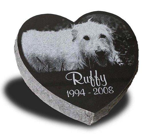 (Large Heart Shape Pet Grave Marker - Pet Headstones - Pet Gravestones - Pet Memorials)
