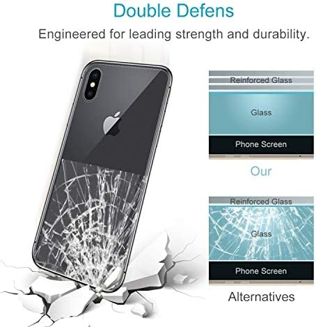 KANEED Tempered Glass Film 100 PCS for iPhone X 0.3mm 9H Surface Hardness 2.5D Transparent Tempered Glass Back Screen Protector