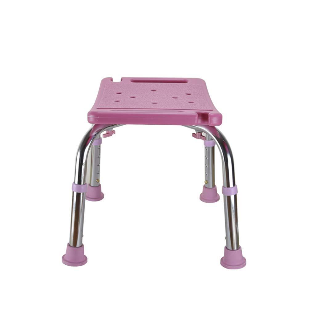 per,Rosa panca per doccia medica Sedia da bagno in plastica Sedia da doccia regolabile in altezza con sedile per doccia posteriore e antiscivolo Panca con altezza regolabile per la gamba posteriore