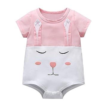 68dc9d94561aa Amazon.com: NUWFOR Newborn Baby Girl Kid Cartoon Rabbit Printed ...