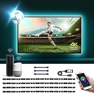 LE LED Strip Lights Alexa Google Home Compatible, 6.56ft WiFi Smart TV Backlight, USB Color Changing Light Strip for TV, SMD 5050, Flexible Tape Light Bias Lighting for TV, Bedroom(Only Support 2.4G)