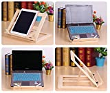 P2P@zita Wood bookstand laptop iPad book stand holder/Document stand holder Reading stand with 4 Adjustable Positions