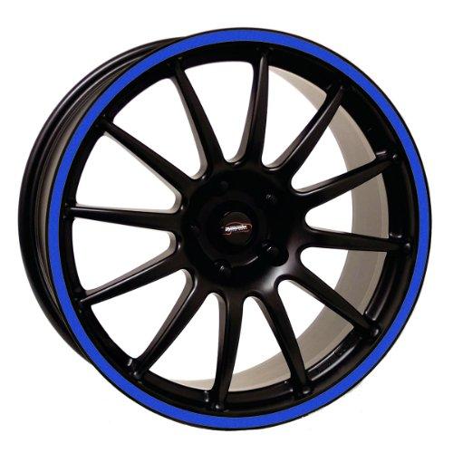 Rim Edge (Vehicleartz 20-23 Inch Wheel Rim Trim Tape Stripes-Reflective Blue-Size 4: 1/2 inch or 12.5mm)