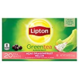 amazon acai - Lipton Green Tea Bags, Dragonfruit Melon 20 ct,  (pack of 6)