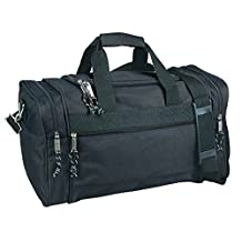 DALIX DF-019 Duffel Bag Sports Gym Carry Bag with Strap and Side Pockets, 20 Inches, Black by DALIX