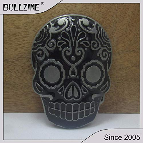Wholesale Buckle Belt Skull - Buckes - The Wholesale Skull Belt Buckle with Pewter Finish FP-02973-2 Suitable for 4cm Width on Belt