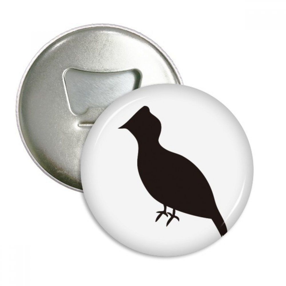 Black Grouse Animal Portrayal Round Bottle Opener Refrigerator Magnet Badge Button 3pcs Gift