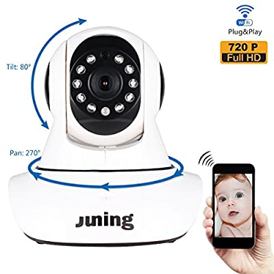 Wifi Wireless 720P HD WiFi Wireless Security Camera for Baby /Elder/ Pet/Nanny Monitor with Night Vision from JUNING