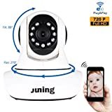 Baby Monitor Home Wifi Wireless Security Camera System 720P HD Pan Tilt (Day/Night Vision,2 Way Audio,SD Card Slot, Alarm)-JUNING C25 IP Camera