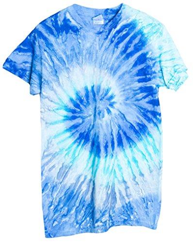 Ragstock Tie Dye T-Shirt, Blue-Jerry - - T-shirt Tie Dye Jerry
