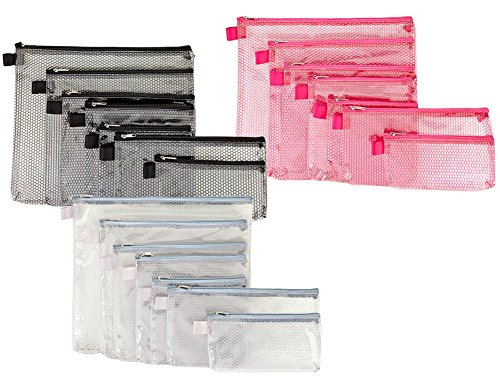 G-Force 7-piece Tear Resistant Packing Envelopes Pouch Set, Colors May (Clear Packing Envelopes)
