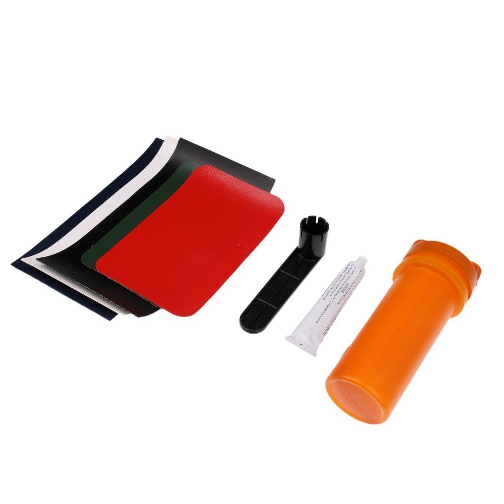 Baoblaze Portable Durable 8 pz//set Gommone kayak Kit di Riparazione in PVC Patch Valvola Chiave per Canoa