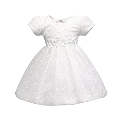 c6c6eec6514f Amazon.com  KONFA Toddler Baby Girls Flower Tulle Dress