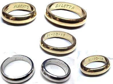 adc724f09729 Artesanal de Boda de 5 Gramos Aprox. Color Oro O Plata De Plata 925 Anillo  de Matrimonio Personalizado con TU Nombre ...