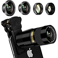 Phone camera lens, AFAITH Upgraded 5-in-1 phone lens...