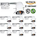 "Sunco Lighting 10 PACK - 4"" inch Remodel LED Can Air Tight IC Housing LED Recessed Lighting- UL Listed and Title 24 Certified"