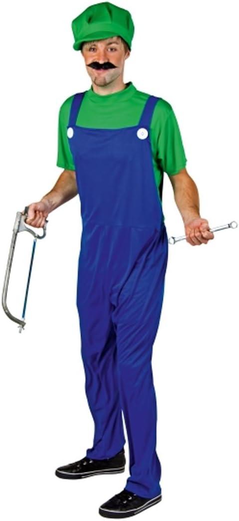 Disfraz de adulto de disfraces de carnaval de Luigi verde-azul ...