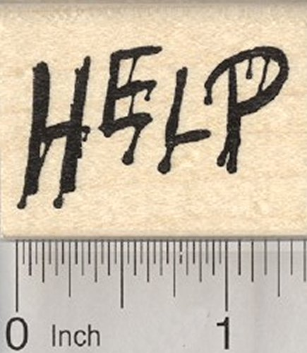 Scary Help Rubber Stamp, Halloween, Blood]()